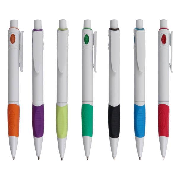 עט פלסטיק ממותג - רמיני לבן