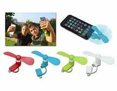 מאוורר לטלפון נייד עם מחבר כפול לאייפון ואנדרואיד